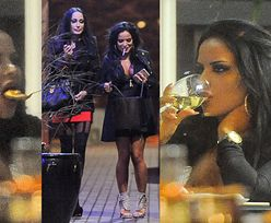 Godlewskie w restauracji - jedzą, piją, papierosa palą... (ZDJĘCIA)