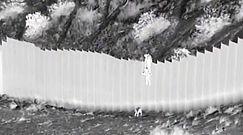 Wstrząsające nagranie z  granicu USA i Meksyku. Dwójka dzieci przerzucona przez wysoki płot