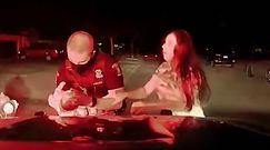 Policjant uratował niemowlę. Nagranie z policyjnej kamery