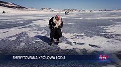 Niesamowita 79-letnia łyżwiarka. Jeździ po zamarzniętym jeziorze Bajkał