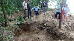 Wielkie odkrycie w Brudnicach. Odkopano masowy grób żołnierzy z czasów II wojny światowej