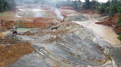 Nalot na nielegalną kopalnię. Spektakularna akcja kolumbijskich służb