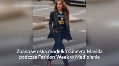 #dziejesiewsporcie: piłkarski akcent podczas Fashion Week. Modelka w koszulce Interu