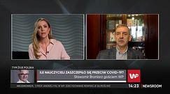 Sławomir Broniarz komentuje problemy zdrowotne nauczycieli po szczepieniach (WIDEO)