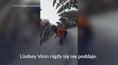 #dziejesiewsporcie: szaleństwo Lindsey Vonn. Upadek jej nie złamał