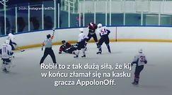 #dziejesiewsporcie: Połamał hokejowy kij na głowie rywala