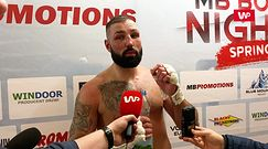 """MB Boxing Night 9. Kamil Bodzioch na gorąco po remisie. """"Nie czuję się przegrany"""""""