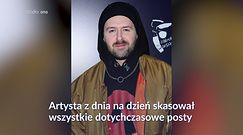 Grzegorz Hyży usunął wszystkie posty z Instagrama. Fani zaniepokojeni