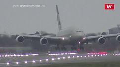 Dramatyczne lądowanie. Walka ze sztormem Dennis w Londynie