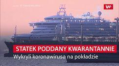 Statek poddany kwarantannie. Wykryli koronawirusa na pokładzie