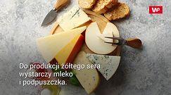 Żółty ser konta podróbki