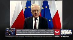 """Szczyt UE. Jarosław Gowin o wpisie Zbigniewa Ziobry. """"Ocena jaskrawo nietrafna"""""""