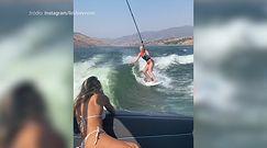 #dziejesiewsporcie: była gwiazda narciarstwa szaleje na wakeboardzie