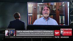 """Andrzej Sośnierz """"rozczarowany. """"Na razie jestem w koalicji"""""""