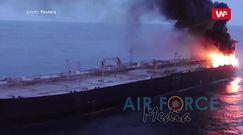 Ogień na supertankowcu. Marynarka wojenna Sri Lanki walczy z pożarem statku