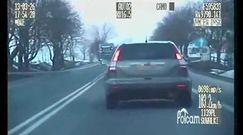 Wypadek podczas pościgu