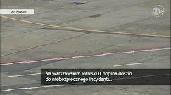 Niebezpieczny incydent z dronem w okolicach lotniska Chopina