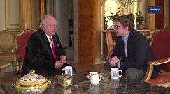 Brexit. Polski arystokrata chce walczyć z Nigelem Faragem na szable