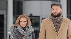 Ciężarna Kaczorowska nadal krąży po śniadaniówkach w mężem