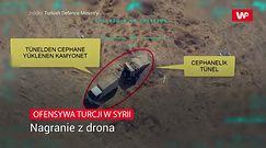 Ofensywa Turcji w Syrii. Nagranie z drona