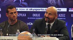 """Boks. Chisora - Szpilka. Polakowi zabrakło słów na konferencji. """"Mój angielski nie jest dobry"""""""