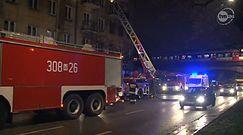 Pożar kamienicy w Warszawie