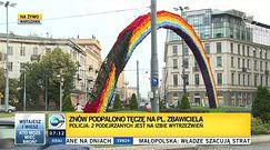 Tęcza na w Warszawie znów w ogniu