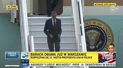 Barack Obama przyleciał do Warszawy