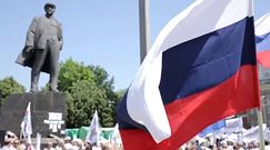 Wiec zwolenników samozwańczej Donieckiej Republiki Ludowej [WP.PL z Ukrainy]