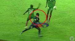 #dziejesiewsporcie: atak jak z kung-fu! Piłkarz-brutal znokautował rywala