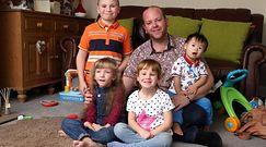 Super tata wychowuje 4 niepełnosprawnych dzieci