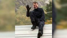 Tom Cruise na dachu pociągu. Gwiazda Hollywood przyłapana w norweskich górach