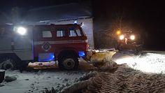 Horodło. Śnieżyca odcięła dostęp do rodzącej kobiety. Na pomoc rzucono zastępy strażaków