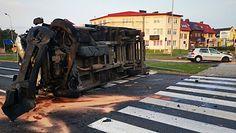 Groźny wypadek w Lubinie. Nagranie z kamery monitoringu