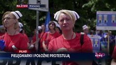 Strajk pielęgniarek i położnych. Relacja z protestu przed Sejmem