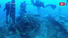 Wrak samolotu w wodach Indonezji. Leżał na morskim dnie od 75 lat