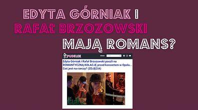 """Edyta Górniak i Rafał Brzozowski parą? """"Za duża różnica wieku"""""""
