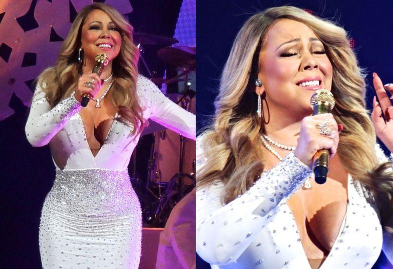 Mariah Carey podczas świątecznego koncertu w Nowym Jorku