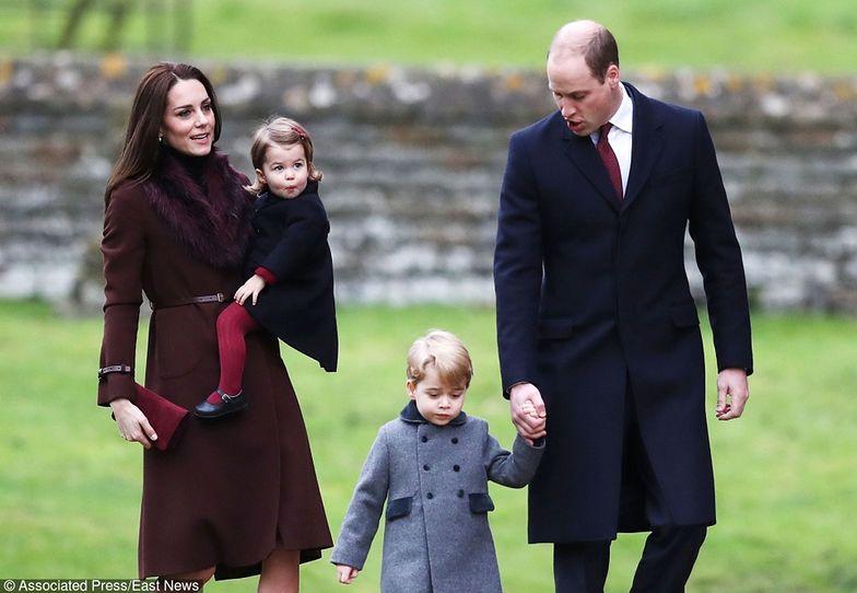 Księżna Kate, księżniczka Charlotte, książę George i książę William