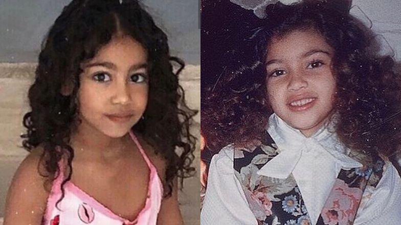 """Kim Kardashian powraca wspomnieniami do dzieciństwa. Internauci: """"BLIŹNIACZKA NORTH!"""" (FOTO)"""