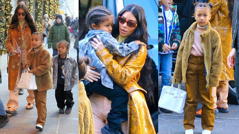 Karmelowa Kim Kardashian podbija Nowy Jork w towarzystwie synka, 6-letniej córeczki i jej... CHŁOPAKA! (FOTO)