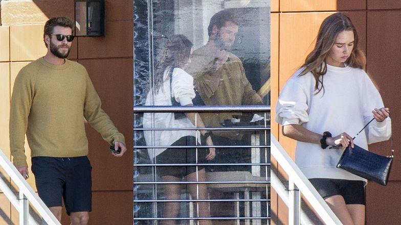 Liam Hemsworth konsumuje lunch w towarzystwie nowego obiektu westchnień, Gabrielli Brooks. Pasują do siebie? (ZDJĘCIA)