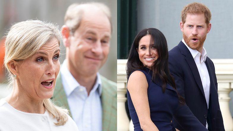 """Książę Edward i hrabina Zofia DRWIĄ ze zwierzeń Harry'ego i Meghan: """"Jaka Oprah? Jaki wywiad?"""""""