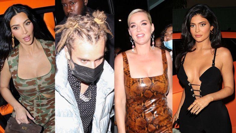Plejada gwiazd na premierze tequili Kendall Jenner: Kim Kardashian w moro, Justin Bieber z bałaganem na głowie, wężowa Katy Perry (ZDJĘCIA)