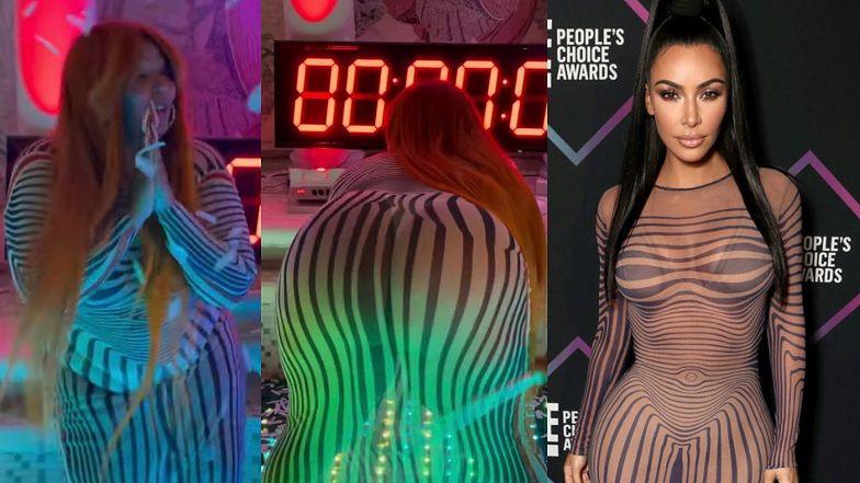 Lizzo twerkuje w prześwitującej sukience, którą chwaliła się kiedyś Kim Kardashian