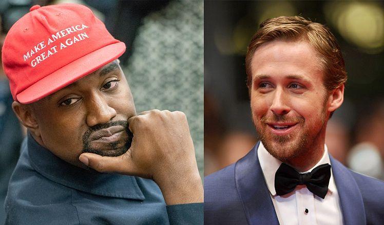 Ranking najprzystojniejszych mężczyzn według naukowców: Kanye West wyprzedził Ryana Goslinga!