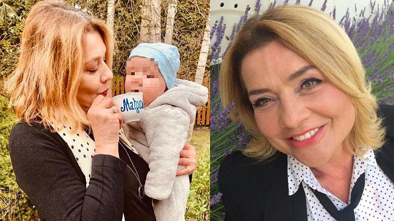 """Małgorzata Ostrowska-Królikowska celebruje chwile z wnuczkiem: """"Kawka z babcią"""""""