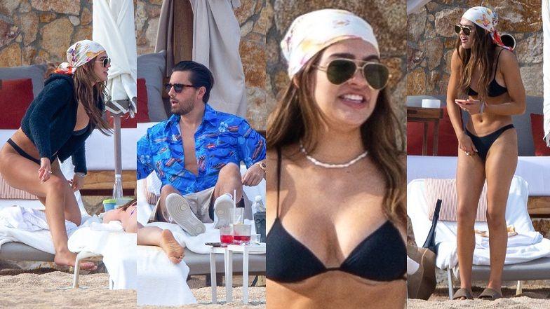 Scott Disick ze swą 19-letnią dziewczyną Amelią Hamlin popija drinki na plaży w Tulum (ZDJĘCIA)