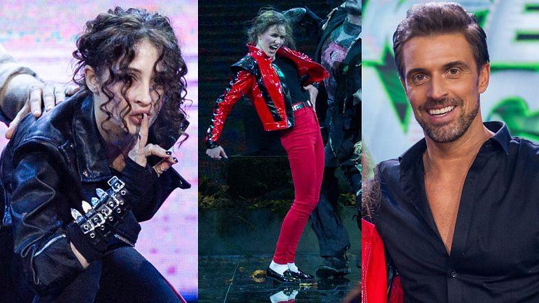 """""""Dance Dance Dance"""". Roksana Węgiel jako Michael Jackson, całująca parkiet Anna Matysiak i """"król latino"""" Stanisław Karpiel-Bułecka (ZDJĘCIA)"""