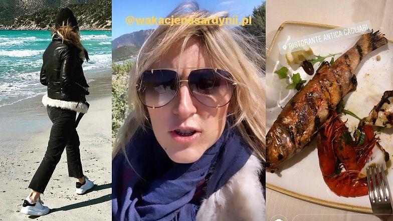 Karolina Szostak ZAJADA SIĘ rybami, relacjonując wakacje na Sardynii (ZDJĘCIA)